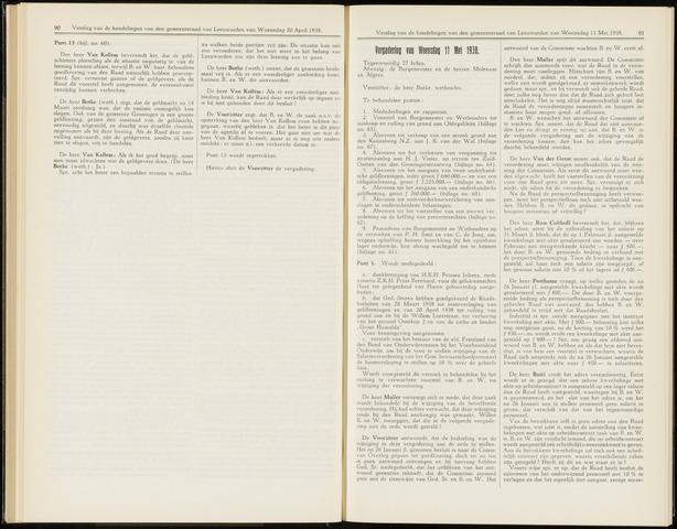 Raadsverslagen van de gemeente Leeuwarden, 1865-2007 (Notulen) 1938-05-11