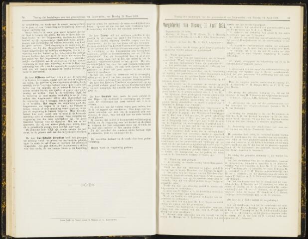 Raadsverslagen van de gemeente Leeuwarden, 1865-2007 (Notulen) 1899-04-11