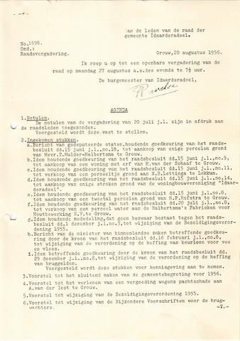 raadsverslagen Idaarderadeel 1935-1983 1956-08-27