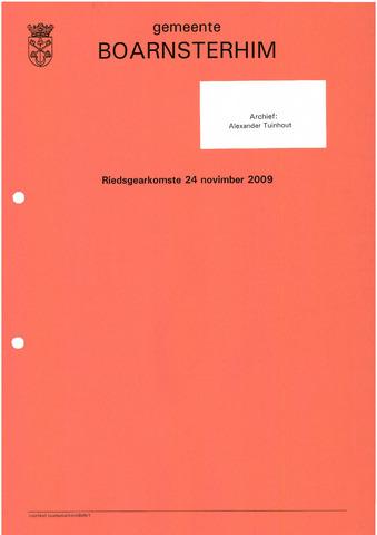 Boarnsterhim vergaderstukken gemeenteraad  2009-11-24