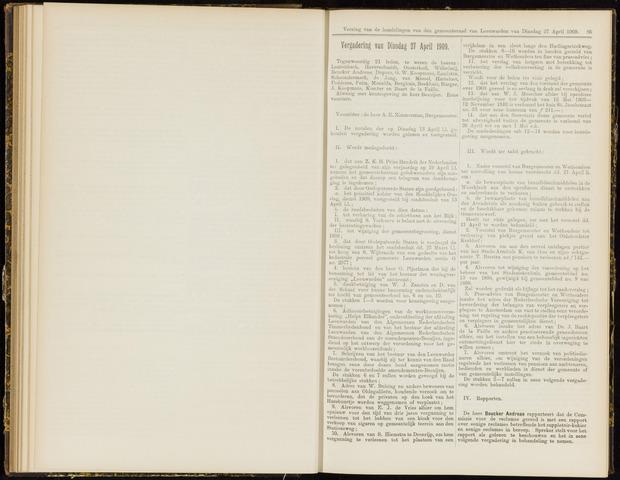 Raadsverslagen van de gemeente Leeuwarden, 1865-2007 (Notulen) 1909-04-27