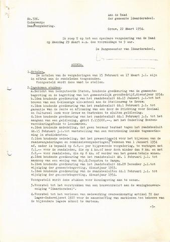 raadsverslagen Idaarderadeel 1935-1983 1954-03-29