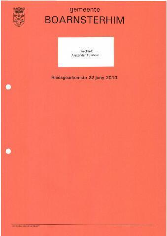 Boarnsterhim vergaderstukken gemeenteraad  2010-06-22
