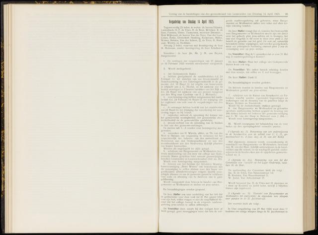Raadsverslagen van de gemeente Leeuwarden, 1865-2007 (Notulen) 1925-04-14