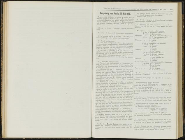 Raadsverslagen van de gemeente Leeuwarden, 1865-2007 (Notulen) 1905-05-23