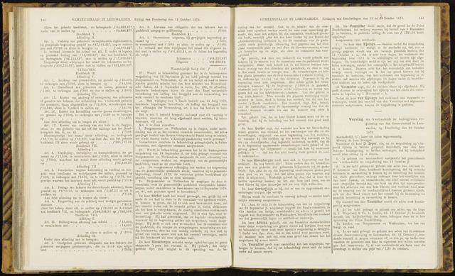 Raadsverslagen van de gemeente Leeuwarden, 1865-2007 (Notulen) 1870-10-20