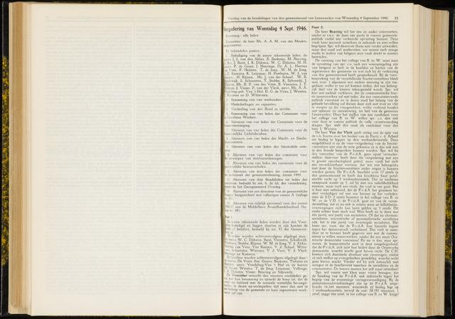 Raadsverslagen van de gemeente Leeuwarden, 1865-2007 (Notulen) 1946-09-04