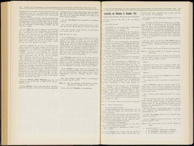 Raadsverslagen van de gemeente Leeuwarden, 1865-2007 (Notulen) 1936-11-25