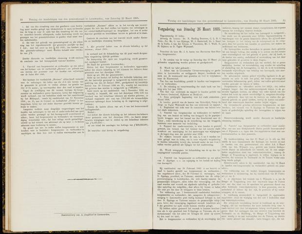 Raadsverslagen van de gemeente Leeuwarden, 1865-2007 (Notulen) 1895-03-26