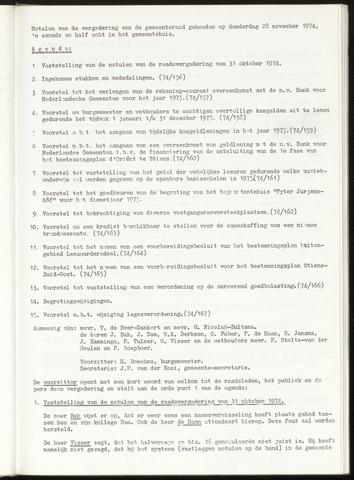 Notulen van de gemeenteraad van Leeuwarderadeel 1974-11-28