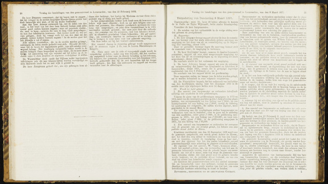 Raadsverslagen van de gemeente Leeuwarden, 1865-2007 (Notulen) 1877-03-08