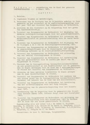 Notulen van de gemeenteraad van Leeuwarderadeel 1963-03-19