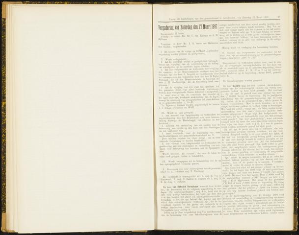 Raadsverslagen van de gemeente Leeuwarden, 1865-2007 (Notulen) 1897-03-27