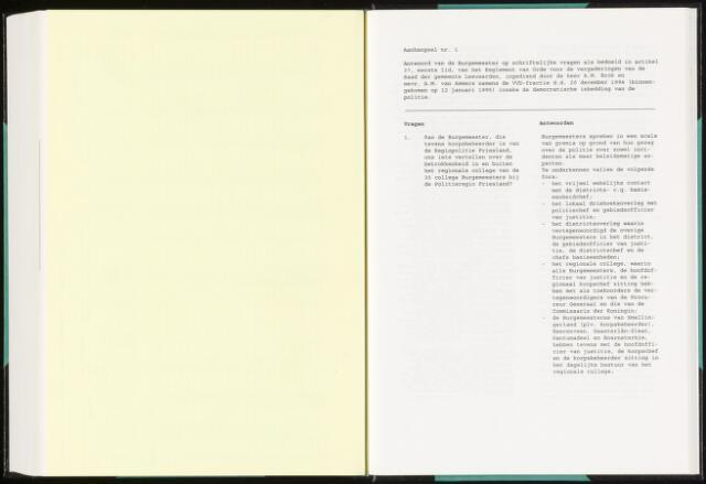 Raadsverslagen van de gemeente Leeuwarden, 1865-2007 (Schriftelijke vragen) 1995