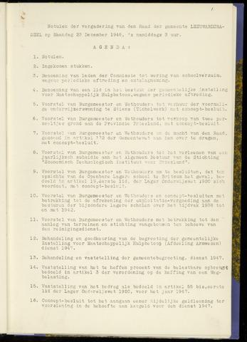 Notulen van de gemeenteraad van Leeuwarderadeel 1946-12-23
