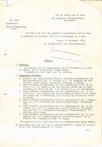 raadsverslagen Idaarderadeel 1935-1983 1953-12-28