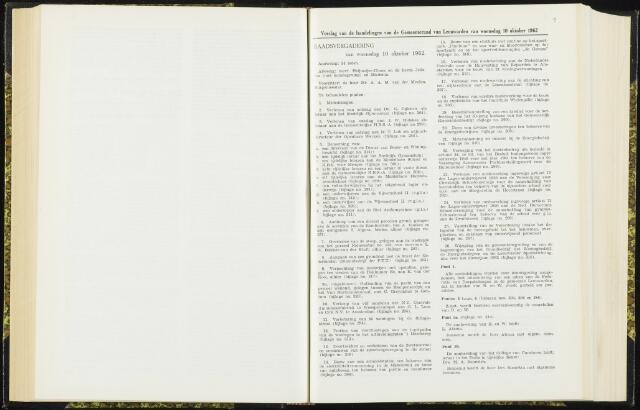 Raadsverslagen van de gemeente Leeuwarden, 1865-2007 (Notulen) 1962-10-10