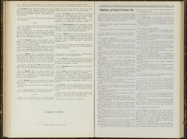 Raadsverslagen van de gemeente Leeuwarden, 1865-2007 (Notulen) 1904-11-22