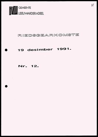 Notulen van de gemeenteraad van Leeuwarderadeel 1991-12-19