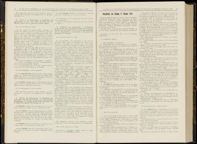 Raadsverslagen van de gemeente Leeuwarden, 1865-2007 (Notulen) 1929-02-12