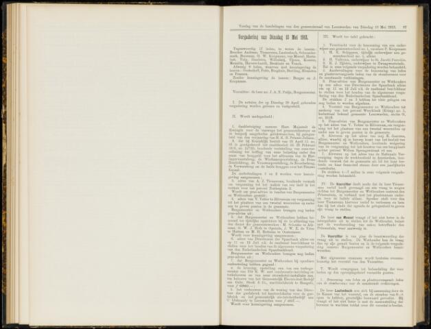 Raadsverslagen van de gemeente Leeuwarden, 1865-2007 (Notulen) 1913-05-13