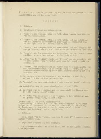 Notulen van de gemeenteraad van Leeuwarderadeel 1952-08-28