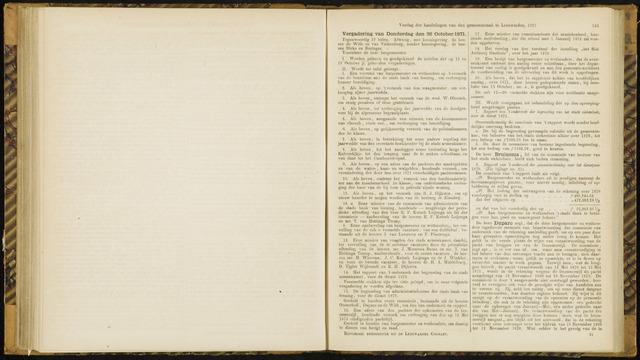 Raadsverslagen van de gemeente Leeuwarden, 1865-2007 (Notulen) 1871-10-26
