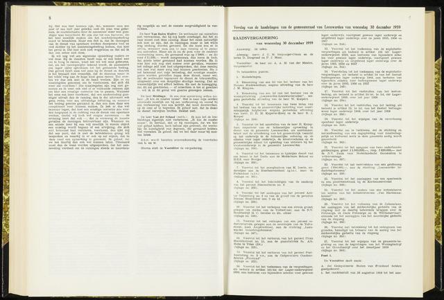Raadsverslagen van de gemeente Leeuwarden, 1865-2007 (Notulen) 1959-12-30