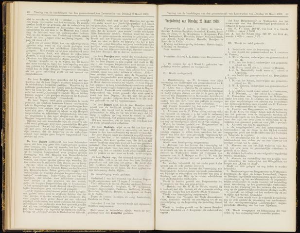 Raadsverslagen van de gemeente Leeuwarden, 1865-2007 (Notulen) 1909-03-23