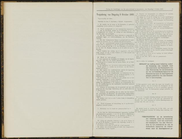 Raadsverslagen van de gemeente Leeuwarden, 1865-2007 (Notulen) 1889-10-08