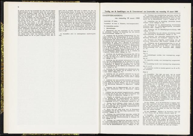 Raadsverslagen van de gemeente Leeuwarden, 1865-2007 (Notulen) 1966-03-16