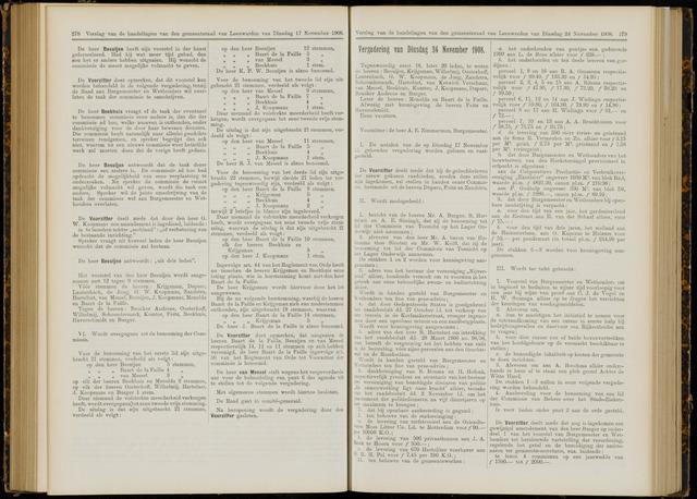 Raadsverslagen van de gemeente Leeuwarden, 1865-2007 (Notulen) 1908-11-24