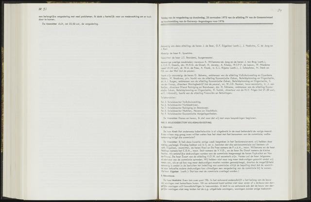 Raadsverslagen van de gemeente Leeuwarden, 1865-2007 (Notulen) 1975-11-20