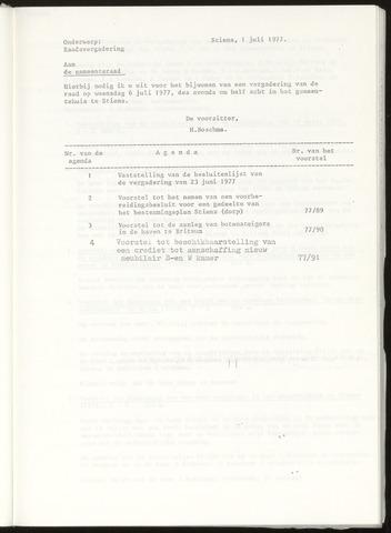 Notulen van de gemeenteraad van Leeuwarderadeel 1977-07-06