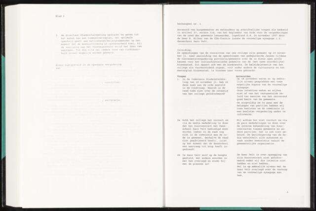 Raadsverslagen van de gemeente Leeuwarden, 1865-2007 (Schriftelijke vragen) 1998-01-01