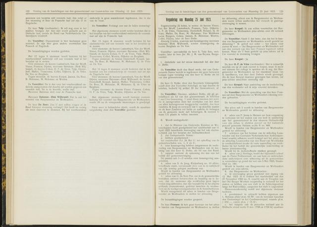 Raadsverslagen van de gemeente Leeuwarden, 1865-2007 (Notulen) 1923-06-25