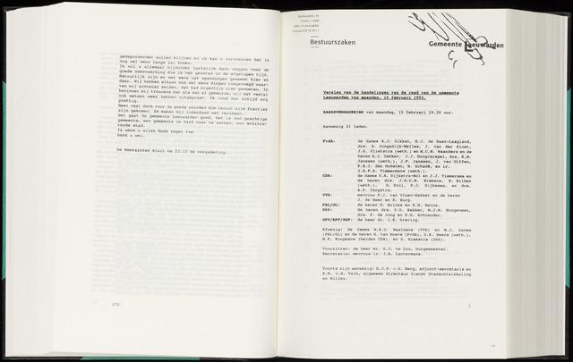 Raadsverslagen van de gemeente Leeuwarden, 1865-2007 (Notulen) 1993-02-15