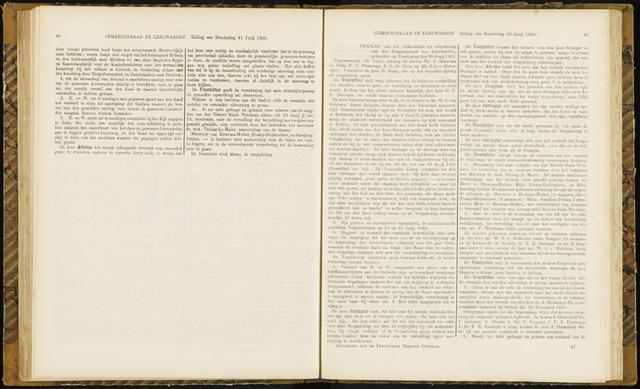 Raadsverslagen van de gemeente Leeuwarden, 1865-2007 (Notulen) 1866-06-28
