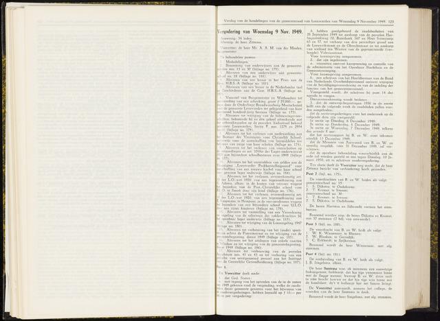Raadsverslagen van de gemeente Leeuwarden, 1865-2007 (Notulen) 1949-11-09