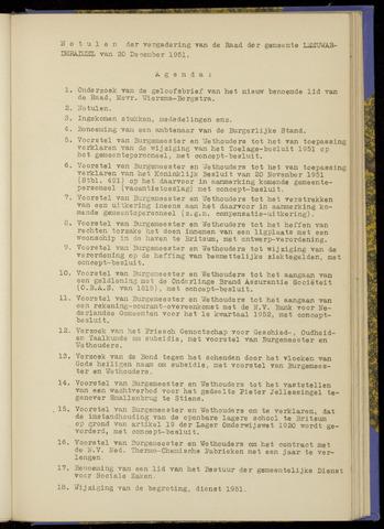 Notulen van de gemeenteraad van Leeuwarderadeel 1951-12-20