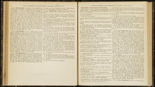 Raadsverslagen van de gemeente Leeuwarden, 1865-2007 (Notulen) 1873-07-10
