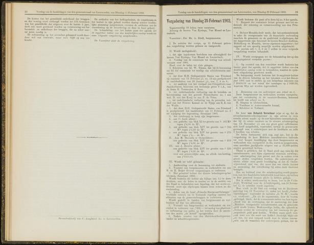Raadsverslagen van de gemeente Leeuwarden, 1865-2007 (Notulen) 1902-02-25