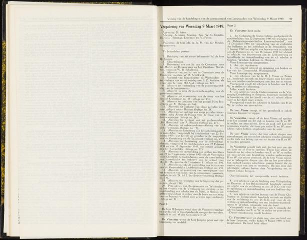 Raadsverslagen van de gemeente Leeuwarden, 1865-2007 (Notulen) 1949-03-09