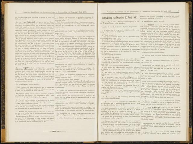 Raadsverslagen van de gemeente Leeuwarden, 1865-2007 (Notulen) 1890-06-10