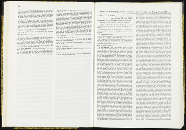Raadsverslagen van de gemeente Leeuwarden, 1865-2007 (Notulen) 1967-04-25