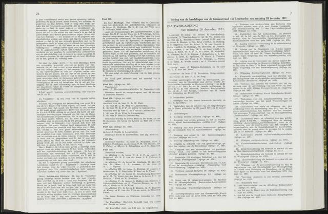 Raadsverslagen van de gemeente Leeuwarden, 1865-2007 (Notulen) 1971-12-20