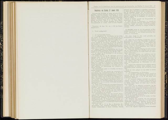 Raadsverslagen van de gemeente Leeuwarden, 1865-2007 (Notulen) 1920-01-27