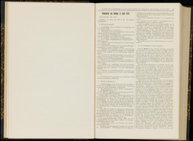 Raadsverslagen van de gemeente Leeuwarden, 1865-2007 (Notulen) 1928-04-24