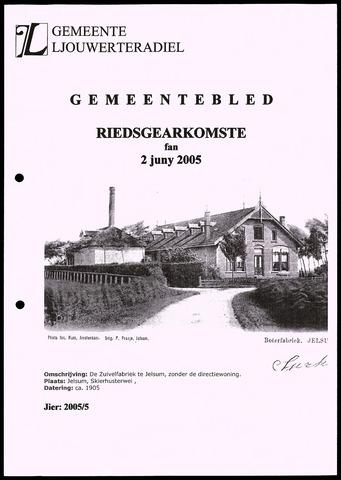 Notulen van de gemeenteraad van Leeuwarderadeel 2005-06-02