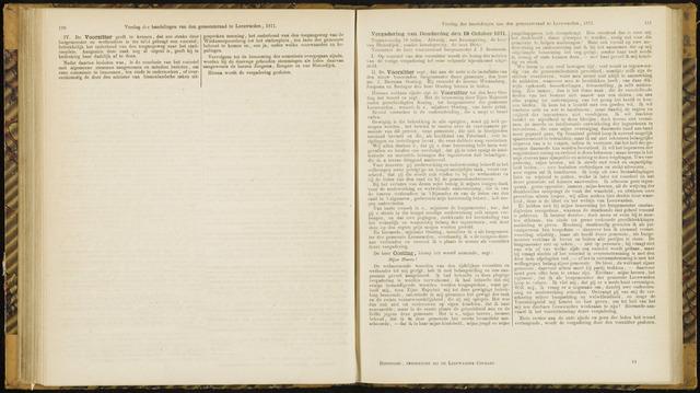 Raadsverslagen van de gemeente Leeuwarden, 1865-2007 (Notulen) 1871-10-19